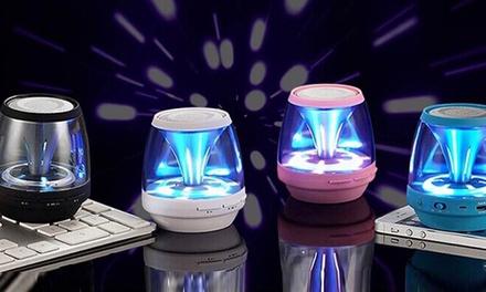 Enceintes Bluetooth lumières avec carte micro-SD 4Go, 4 coloris disponibles dès 14,99€