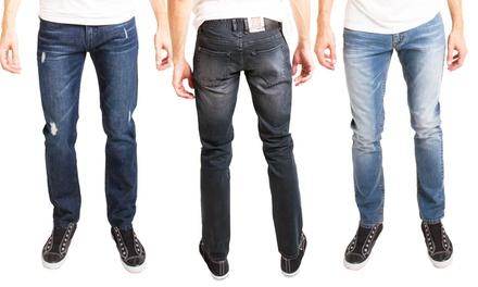 Micros Men's 5 Pocket Slim Fit Jeans