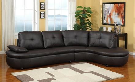 Modern sectional sofas groupon goods for Sectional sofa groupon