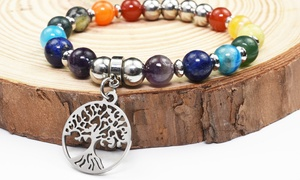 Genuine Tree Of Life Chakra Bracelet by Pink Box