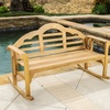 Benita Wooden Outdoor Rocking Bench