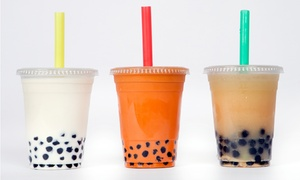 Cafe Amasia: $12.50 for Five Drinks, Including Bubble Tea and Smoothies at Cafe Amasia ($21.25 Value)