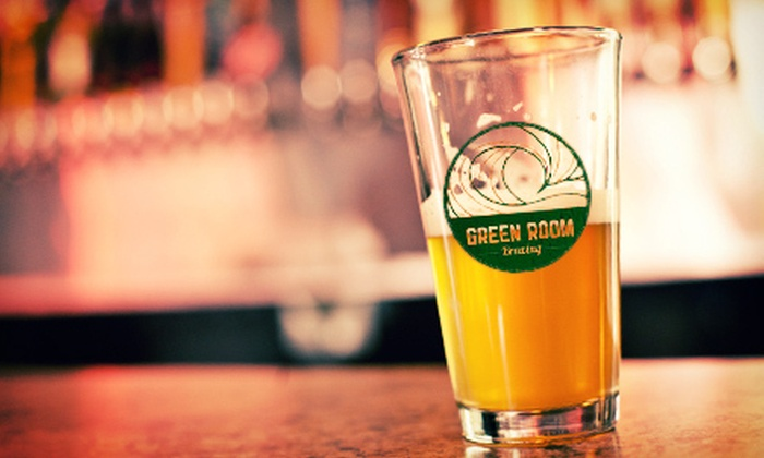Green Room Brewing - Isle of Psalms: $25 for Two Beers, Two Souvenir Pint Glasses, and a 1-Gallon Growler at Green Room Brewing ($50 Value)