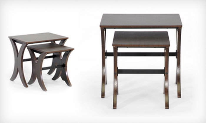 Two Baxton Studio Xavier Nesting Tables: $89 for a Pair of Baxton Studio Xavier Brown Modern Nesting Tables ($199.99 List Price). Free Shipping.