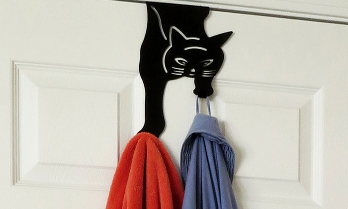Over-The-Door Cat Double Hook Hanger