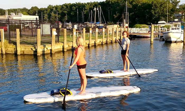 Baltimore Boating Center - Essex: Two-Hour Stand-Up Paddleboarding Rental for Two or Four by Middle River SUP (Up to 50% Off)