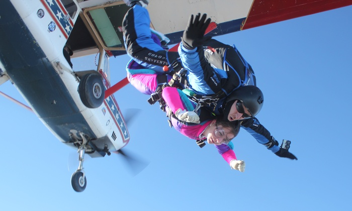 Dallas Skydive Center - Caddo Mills: Tandem Jumps for one or two people at Dallas Skydive Center (Up to 37% Off)