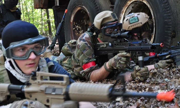 Xzone - Chesterfield: Airsoft Outing for Two or Four With Gun and Equipment Rental Package at XZone (Up to 51% Off)