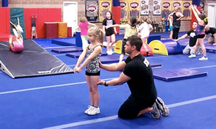 Four Cheerleading or Tumbling Classes at Tumbles & Cheers (Up to 51% Off). Two Options Available.