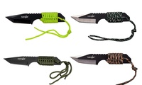 GROUPON: Stainless Steel Cord-Wrapped Survival Knife with Fir... Stainless Steel Cord-Wrapped Survival Knife with Fire Starter