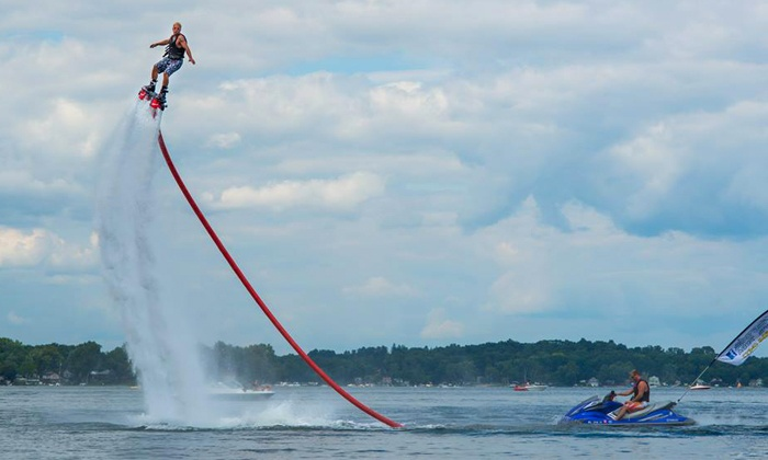 Extreme Aqua Sports - Ann Arbor: 30-Minute Flyboarding Session for One or Two from Extreme Aqua Sports (Half Off)