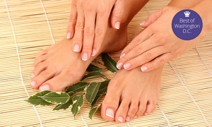 Edge Salon & Spa: Lavender Mani-Pedi, Orange Blossom Aromatherapy Massage, or Both at Edge Salon & Spa (Up to 44% Off)
