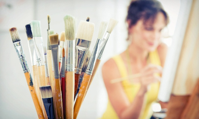 Corks & Colors Studio - Gainesville: BYOB Open Crafting Session for Two or Four at Corks & Colors Studio (Up to 53% Off)