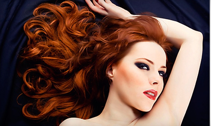 Colleen & Company - Arden Hills - Shoreview: Aveda Haircut Package with Option for All-Over Color or Full Highlights at Colleen & Company (Up to 55% Off)