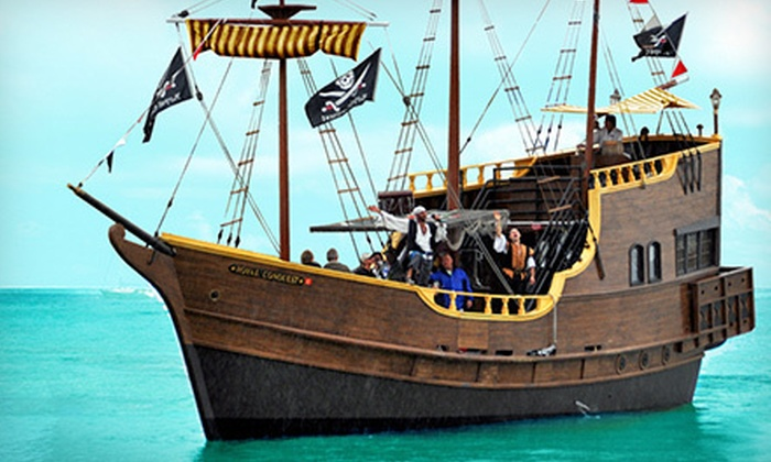 The Pirate Ship At Johns Pass In Madeira Beach FL Groupon - Pirate ship cruise