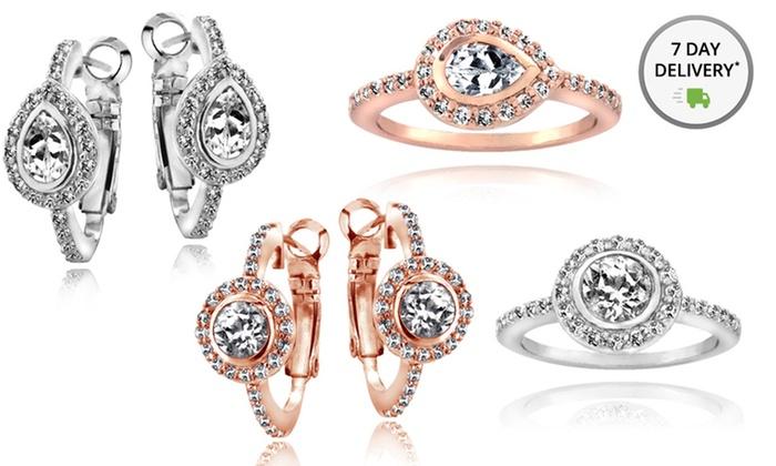 White Topaz Earrings or Ring: White Topaz Earrings or Ring. Multiple Styles Available. Free Returns.