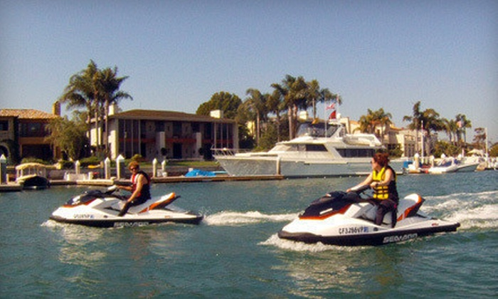 Balboa Water Sports - Balboa Peninsula Point: Two-Hour Standup Paddleboard Tour for One or Two-Hour Guided Tandem Sea-Doo Ride for Two at Balboa Water Sports (Up to 53% Off)