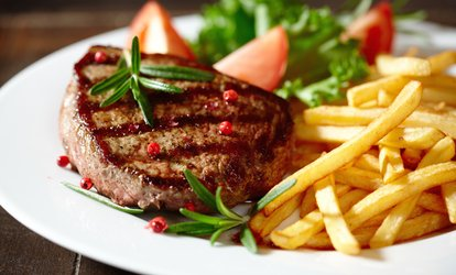 Steak and Chips with Wine for Two or Four at Signature Steakhouse (45% Off*)