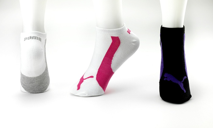 3-Pack of Puma Ladies' Low-Cut Socks: 3-Pack of Puma Ladies' Low-Cut Socks