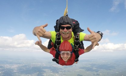 image for Tandem Skydive Jump with Optional Video and Pictures from Skydive Pepperell (Up to 32% Off)