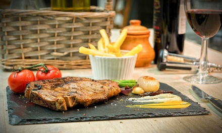 Sirloin Steak Meal with a Bottle of Wine to Share for Two or Four at The Owston (41% Off)