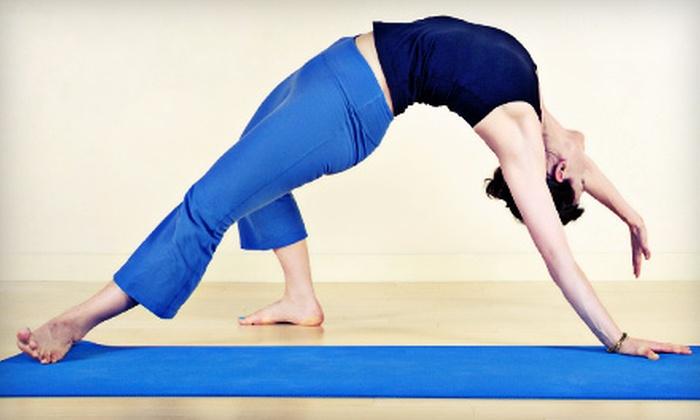 Pilates of Boynton Beach - Canyon Town Center: 10 Yoga, Pilates Mat, or Zumba Classes or 10 Xtend Barre Classes at Pilates of Boynton Beach (Up to 64% Off)