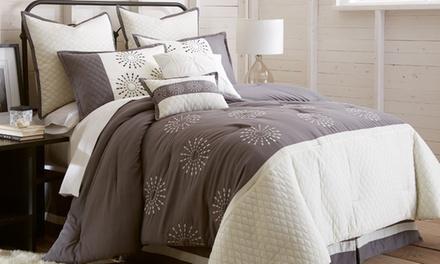 Embroidered Comforter Set (8-Piece)