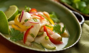 Nazca Bar & Grill: Peruvian Food for Two or Four at Nazca Bar & Grill (Up to 47% Off)