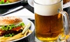 Popolo Leisure - Leeds & Bradford: Burger and Beer or Wine Meal For Two from £9 at Lounge Bar & Grill