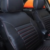 Quilted Leather Cushion Car Seat Pad Set (2-Piece)