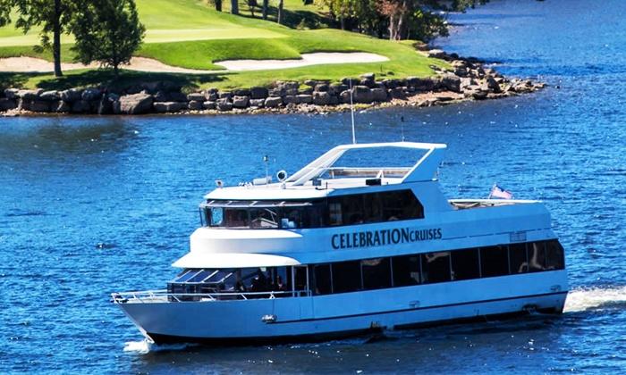 Celebration Cruises - Osage Beach: Narrated Lake of the Ozarks Tour, Happy Hour Cruise, or Sunset Cruise from Celebration Cruises (Up to 50% Off)