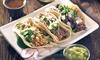 Menú mexicano para dos o cuatro