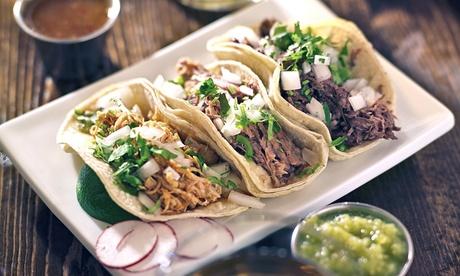 Menú mexicano para dos o cuatro personas con entrante, principal, postre y bebida desde 19,95 €