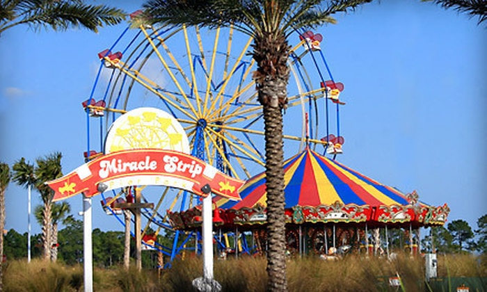 Miracle Strip Pier Park - Panama City Beach: One Day of Unlimited Amusement-Park Rides for Two or Four at Miracle Strip at Pier Park (Up to 56% Off)