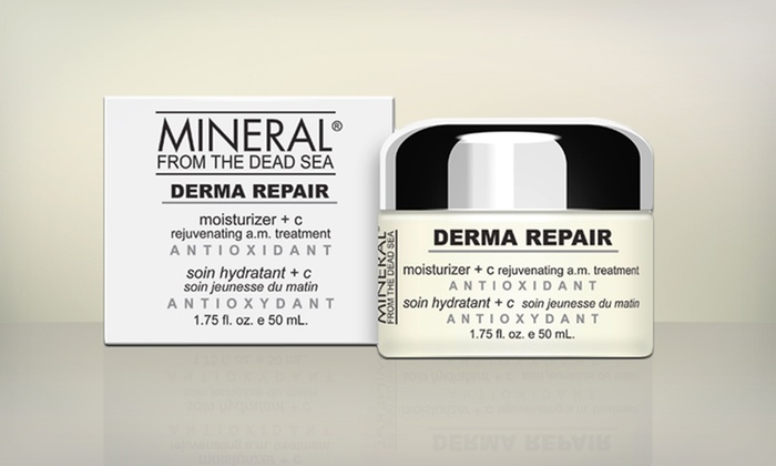 Mineral From The Dead Sea Day Cream: Mineral From the Dead Sea Derma Repair Moisturizer + C Rejuvenating A.M. Treatment