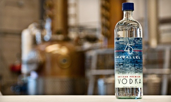 45th Parallel Spirits - New Richmond: Whiskey Tour and Tasting for Two, Four, or Eight with Credit for Merchandise at 45th Parallel Spirits (Up to 56% Off)