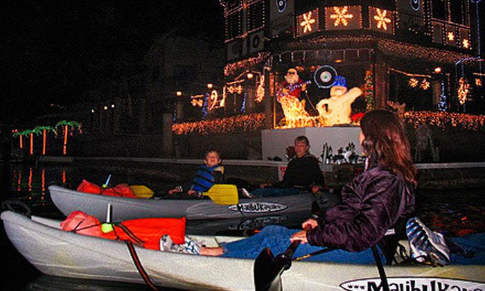 OEX Dive and Kayak -  Sunset Beach - Huntington Beach: $25 for a Kayak Tour to See Holiday Lights Along Huntington Harbor from OEX Dive and Kayak – Sunset Beach ($55 Value)