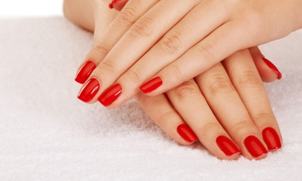 Gel Manicure or One or Two Regular Mani-Pedis at Marcus Ornellas Salon (Up to 51% Off)