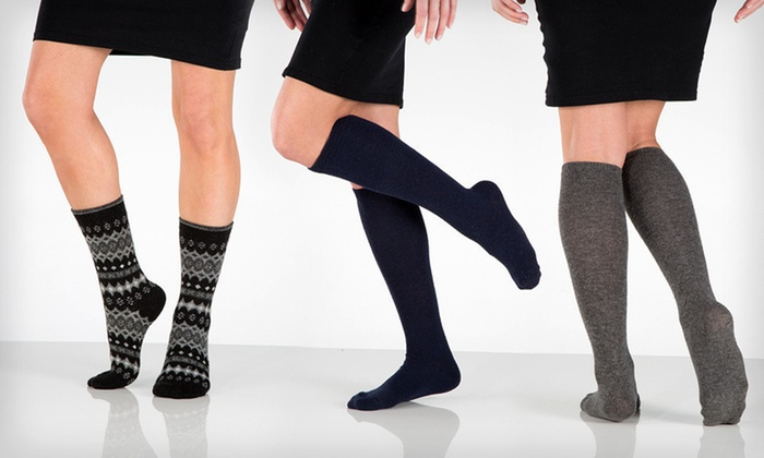 Chinese Laundry Cashmere-Blend Socks: Chinese Laundry Cashmere-Blend Crew and Knee-High Socks (Up to 63% Off). Six Options Available.
