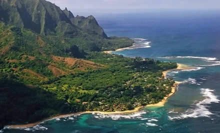 groupon daily deal - 3-, 5-, or 7-Night Stay for Four in an Ocean-View Suite at Hanalei Colony Resort in Kauai, HI. Combine Up to 14 Nights.