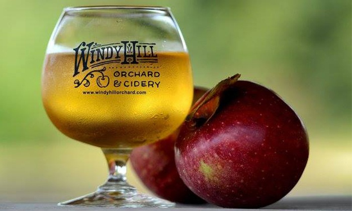 Windy Hill Orchard & Cidery - York: Souvenir Glasses and Hard-Cider for 2 or 4 at Windy Hill Orchard & Cidery (Up to 50% Off)