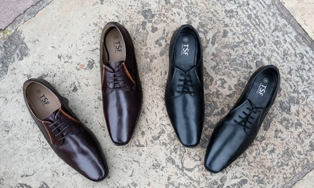 Redfoot Mens Leather Derby Shoes