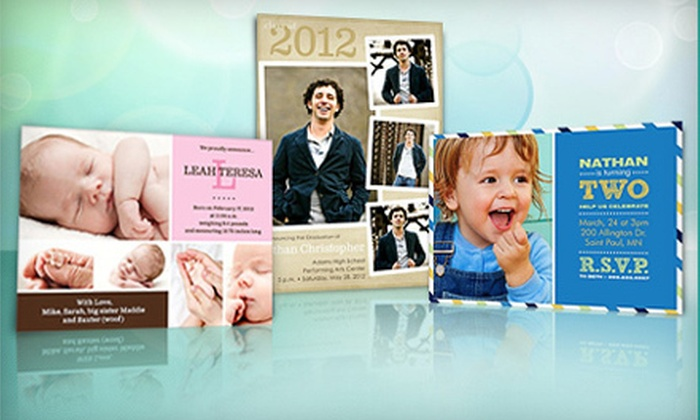 PhotoAffections.com: Personalized Photo Cards and Invitations from PhotoAffections.com (Up to 67% Off). Two Options Available.