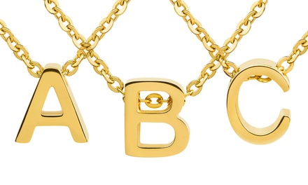 Women's 18K Gold Plated Initial Pendant