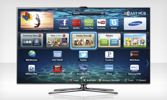 "Samsung 46"" or 55"" 240 Hz Smart, 3D LED TV: Samsung 46'' or 55'' ES7500 1080p Wi-Fi Ready LED TV (Up to 46% Off). Free Shipping."
