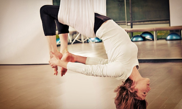 Cardio-Go - Multiple Locations: 5 or 10 Yoga, Aerial Yoga, and Pilates Classes at Cardio-Go (Up to 86% Off)
