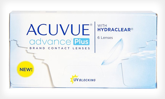 Acuvue Advance Plus Contact Lenses: Six Pairs of Acuvue Advance Plus Contact Lenses from PostalContacts.com ($56 List Price). Valid Acuvue Advance Plus Prescription Required at Redemption.
