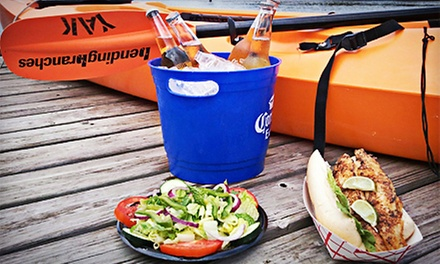 Single-Kayak Rental and Seafood for Breakfast or Lunch for Two or Four from City Seafood (Up to 68% Off)