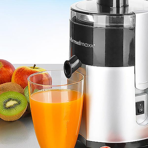 gourmetmaxx Entsafter Vitamin Star 400 W in SilberSchwarz