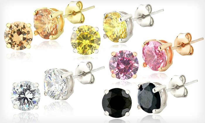 Five Pairs of Colored CZ Stud Earrings: $18.99 for Five Pairs of Colored Cubic Zirconia Stud Earrings ($149.99 List Price). Free Shipping and Returns.